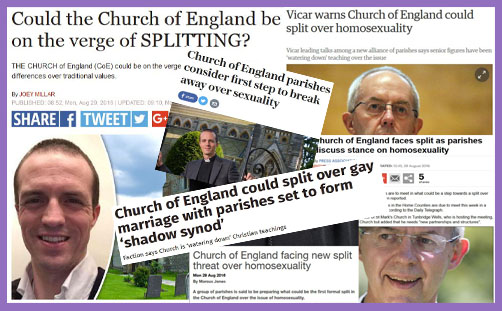 Could the Church of England be on the verge of splitting? and other headlines